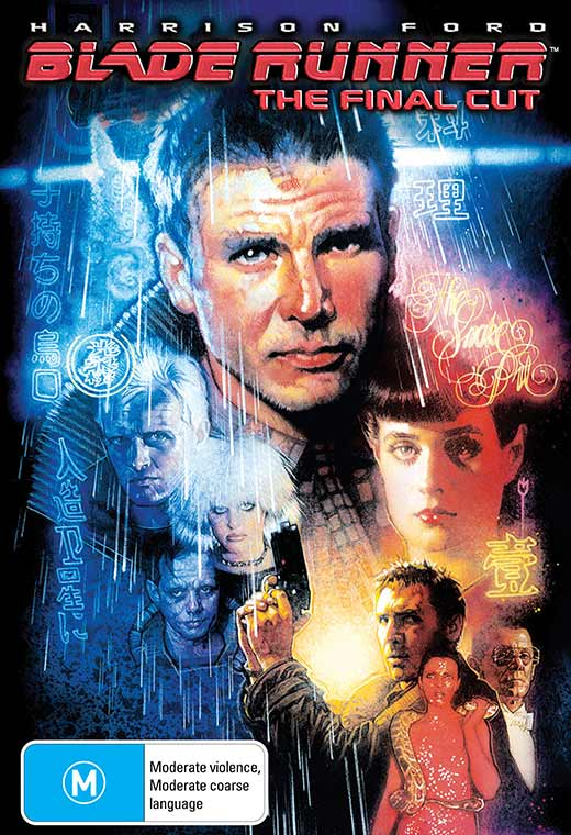 Blade Runner poster with Dekker and other characters illustrated.