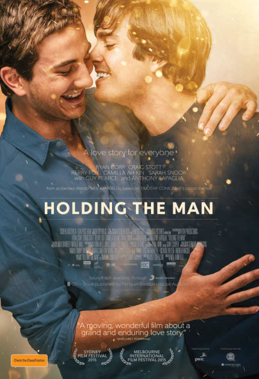 The poster for the film, Holding the Man.